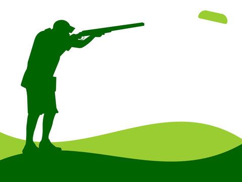 Ilustração - tiro com arma de caça