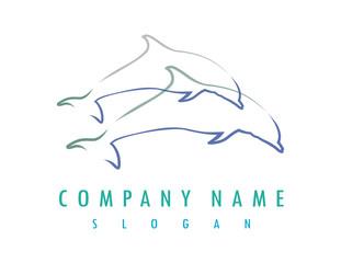 Dolphin lines logo