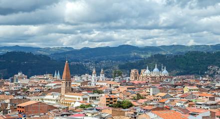 View of the city of Cuenca, Ecuador