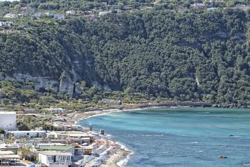 View of Citara beach in Ischia Island