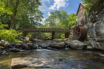 Tuinposter Molens Glade Creek Grist Mill