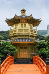 Golden Pavilion of Perfection in Nan Lian Garden, Hong Kong