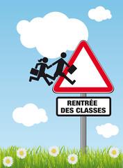 RENTREE DES CLASSES Panneau