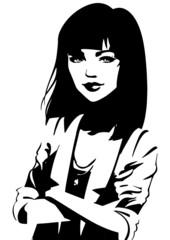 Portrait d'une femme aux bras croisés