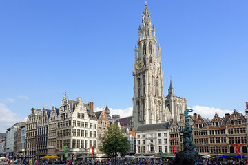 Foto auf Acrylglas Antwerpen Marktplatz Antwerpen