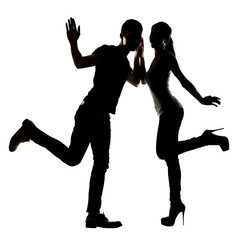 Asian couple dancing
