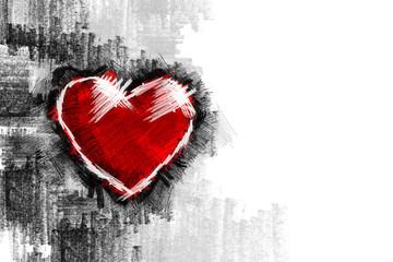 Heart pancil 14