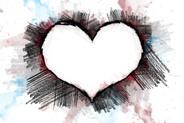Heart pancil 24