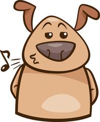 mood chill dog cartoon illustration
