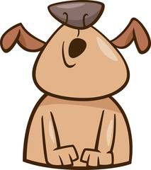mood howl dog cartoon illustration