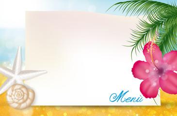 Menù, Beach Bar, Summer time