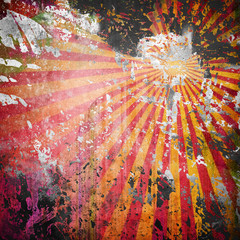 Wall Mural - grunge rays background