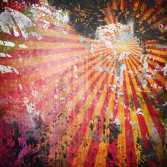 Fototapete - grunge rays background
