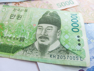 South Korean Won currency
