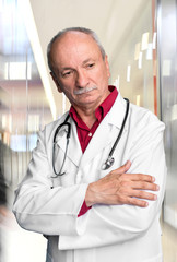 Male doctor with stethoscope