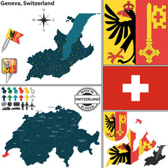 Map of Geneva, Switzerland