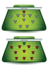Soccer team formations