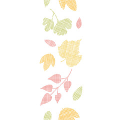 Abstract textile texture fall leaves vertical seamless pattern