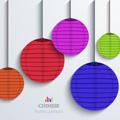 vector modern chinese Paper Lantern background.