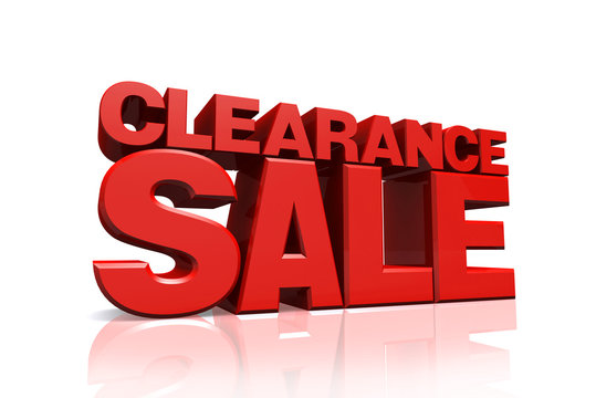 3D red text clearance sale