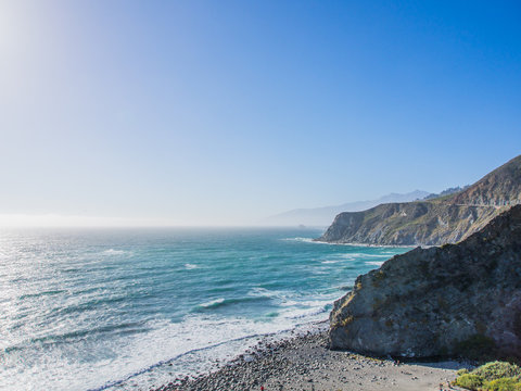 The ocean in pacific coastline, Big Sur on Highway 1