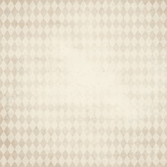 old paper background with checkered Oktoberfest pattern