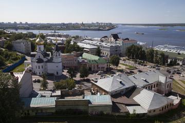 Church on the waterfront. Nizhny Novgorod. Russia