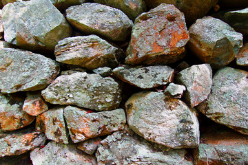 Stacked Rock Fence Background