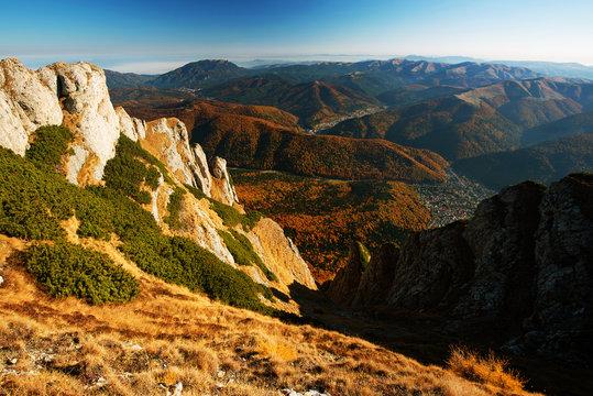 Mountain autumn landscape in Bucegi Mountains, Romania