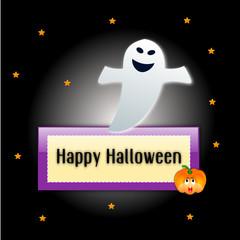 Sfondo di halloween con fantasma