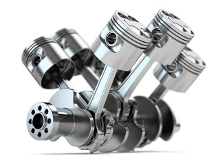 Crankshaft V6 engine