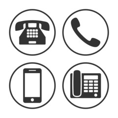 Set of simple phone icon
