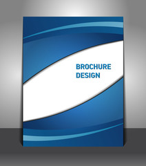Brochure presentation of business poster