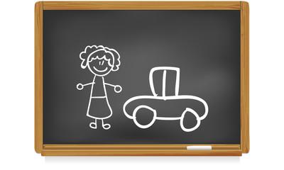 Tableau d'école : maman