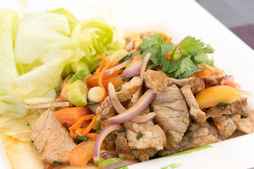 "Beef Salad with juicy dressing, thai call ""Yum Neua"""