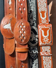 Mexican cowboy leather belts
