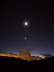 Mond und Venus über Teneriffa