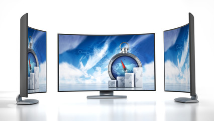 Curved new generation TV