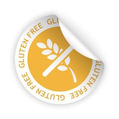vector gluten free bent sticker
