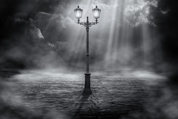 Lone streetlight
