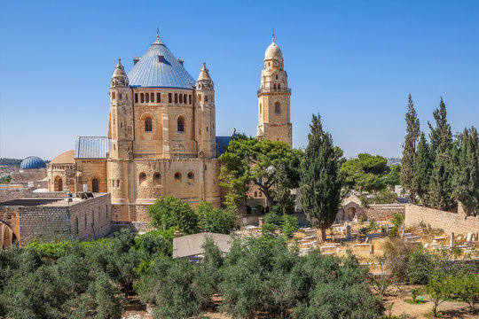 Dormition Abbey in Jerusalem, Israel.
