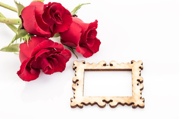 roses and frame