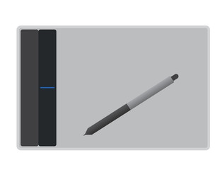 graphical tablet vector illustration
