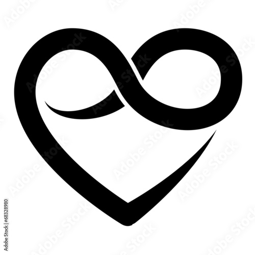 Infinity Heart Symbol Forever Vector Stock Image And Royalty Free
