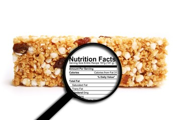 Nutrition facts Wall mural
