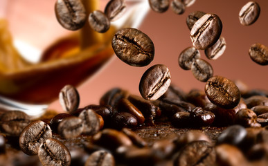 Tuinposter koffiebar chicchi di caffe'