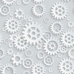 Vector seamless gears 3d mechanical pattern