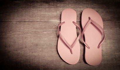 Vintage Pink Colored Flip-Flops