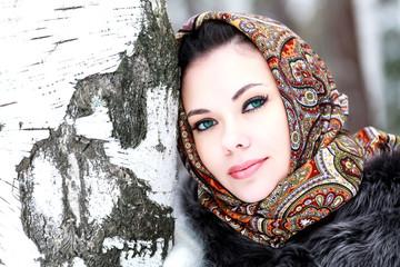 Pretty girl in shawl