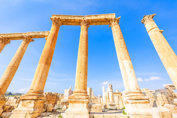 Columns of Gerasa in the ancient Jordanian city of Jerash